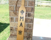 1952 Fraternity Paddle, Solid Wood, Phi Mu Alpha, Sinfonia