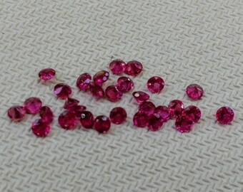 Hot Pink Tourmaline 2.5mm Round, rubellite tourmaline