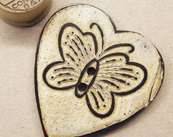 Butterfly button, horn button, heart button, large huge button, ANIMAL CHARITY DONATION