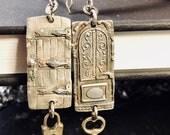 Sterling silver door earrings