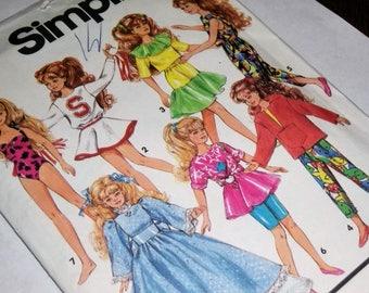 Barbie Wardrobe Sewing Pattern / UNCUT