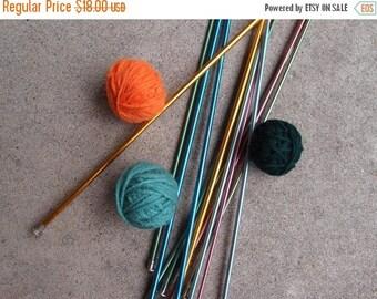 SALE SALE SALE Vintage Knitting Needles Destash Lot Six  Aluminum Size 2 3 4 5 7 8 Supplies Boye Usa