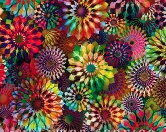 Hoffman - Crystalia - Spectrum Digital Print - Rainbow Fabric by yard or select cut  N4242-181