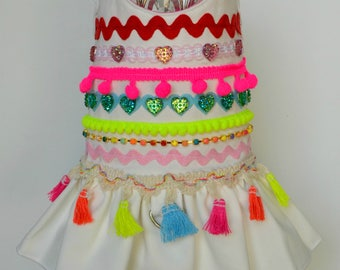 Dog Harness - Boho, Bohemian, Gypsy, Ethnic, Hipster - Dog Dress, Small Dog Clothes, Large Dog Harness,