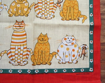 Tabby Cats and Mice ULSTER WEAVERS 100% Irish Linen Towel