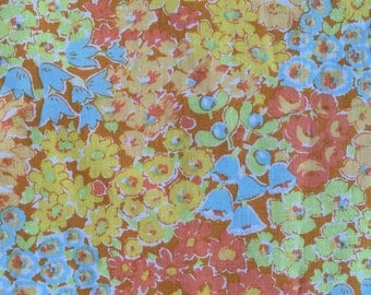 Liberty Art fabric , OOP, rare, Meadow, Marylebone collection, yellow, small repeat floral fabric, by the half yard, yardage available