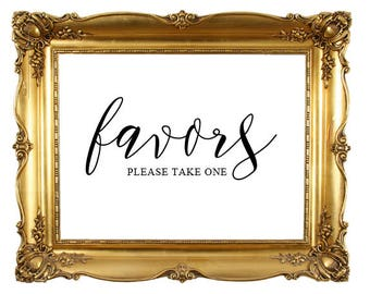 DIY Printable Favors Sign