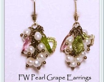 FW Pearl Grape Earrings