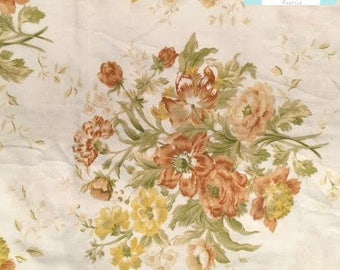 Vintage Yellow and Orange Floral Flat Sheet
