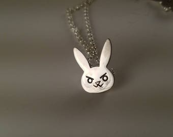 Nerf This! Cute Bunny Pendant Necklace in Sterling Silver