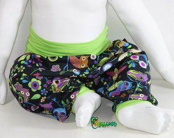 SCALABLE OWLS BLACK 3 MONTHS TO 24 MONTHS BABY HAREM PANTS