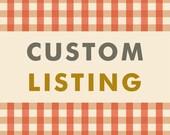 Custom Listing For Mayatasaka