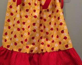 Ladybug print pillowcase dress