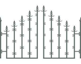 Fence1-Digital ClipArt-Art Clip-Outside-Gift Tag-Notebook-Scrapbook-banner-background-gift card.