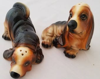 Hound Dog Salt and Pepper Shakers