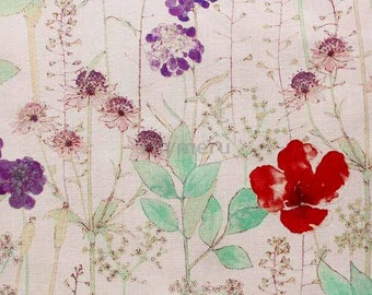 Liberty tana lawn printed in Japan - Irma - Red purple mix