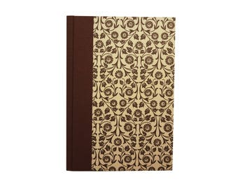 Paper Address Book brown flower ranks, telephone directory
