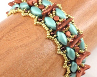Beading Tutorial for Spinal Fusion Bracelet, beading tutorials, bracelet tutorials beadweaving tutorials beadwoven tutorials beading pattern