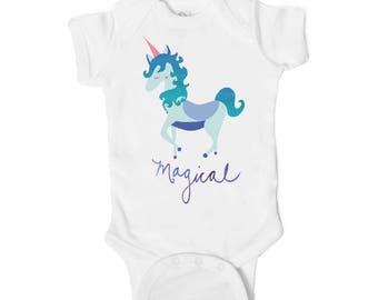 Magical Unicorn Baby Onesie