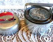 Vintage Nesting Biscuit Cutters and Red Handle Donut Cutter
