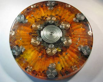 Orgone Mandala - Tiger Iron and Black Amber