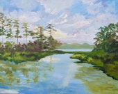 Commission - McCall - Final Payment of Modern Impressionist South Carolina Marsh Original Oil Landscape Painting