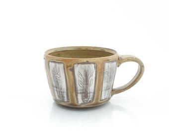 Flower Panel Ceramic Mug