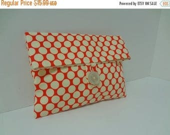 ON SALE Polka Dot Makeup Bag Retro Clutch - READY To Ship
