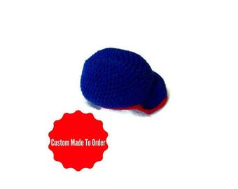 Crochet Baby  Baseball Hat Made To Order Your Choice Of Colors