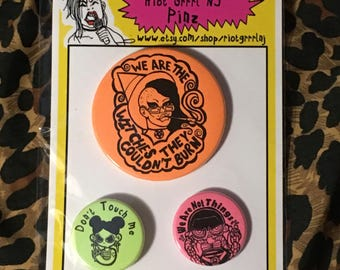 Riot Grrrl Pin set Witches edition