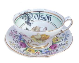 Poison Altered Vintage Teacup