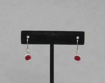 July Birthstone- Ruby Drop Earrings