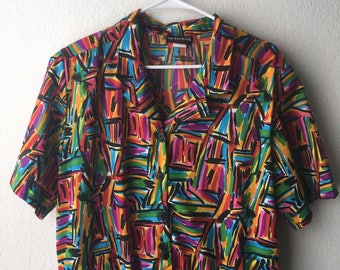 Vintage Abstract Pattern Top