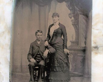 Tintype To Have & to Hold Couple