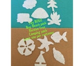 Beach Theme Mini Felt Shapes -DIY Kits for Independent Consultants-Beach Parties-Beach Decorations-Bible Journal-Planner Embellishments
