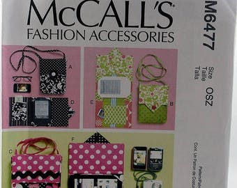 ON SALE McCall's 6477, Fashion Accessories Pattern, E-Reader Covers, Carrying Case Pattern, Sewing Pattern, Uncut