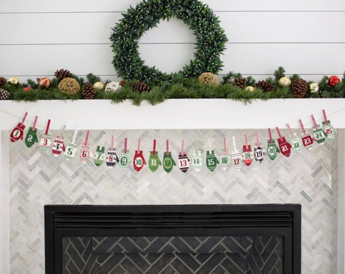 Comfort & Joy Advent Calendar Fabric Panel