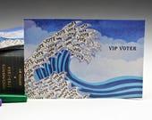 Blue Wave Tsunami Postcards for Voters - Set of 25 - Voter Postcards - Get out the Vote - Postcards -  Political Postcard - Original Artwork