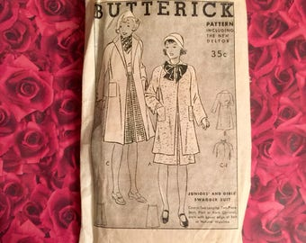 1930's Vintage Butterick Sewing Pattern