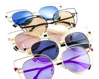 Cat Eye Cut Out  Sunglasses // multiple colors available