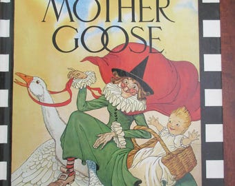 The Real Mother Goose Book -vintage illustrations, nursery rhymes, poetry