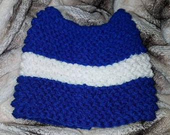 K734 Police Box Kitty Cat Ear Hand Knit Hat