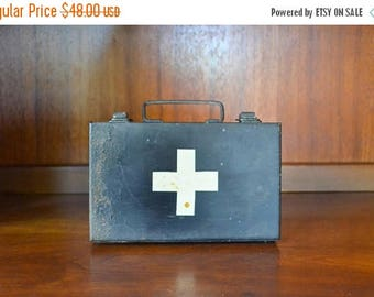 SALE 25% OFF vintage MSA first aid kit / vintage medical supplies / midcentury medical