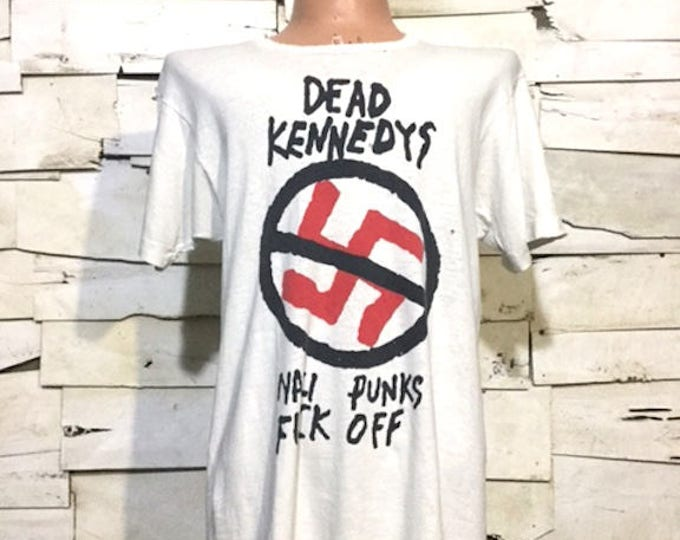 Vintage Dead Kennedys Nazi Punks Fuck Off T-Shirt 80's (ps-ts-13)