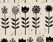 Cotton and Steel Sienna Wildflower Ink Fabric by the Half Yard