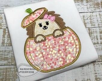 Hedgehog bow pumpkin