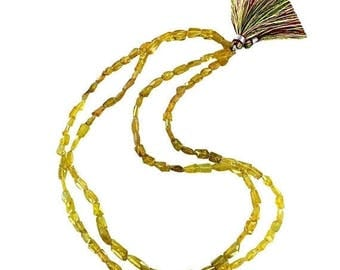 """20% Off Sale : ) YELLOW TOURMALINE FACETED Beads 16"""" New World Gems"""