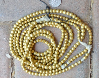 ON SALE African Brass Globes/Bicones 3 Strands