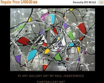 17% OFF /ONE WEEK Only/ Enormous Fantasia Ii abstract  by Pawel Juszkiewicz Huge Pollock style 48x36