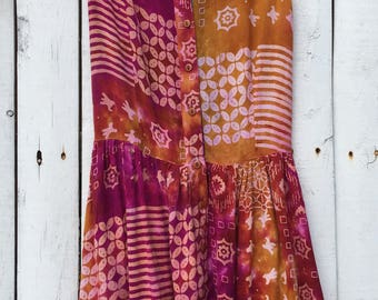 """Boho Rayon Romper """"The Copy Right Classic Collection"""" Size L Made in India"""